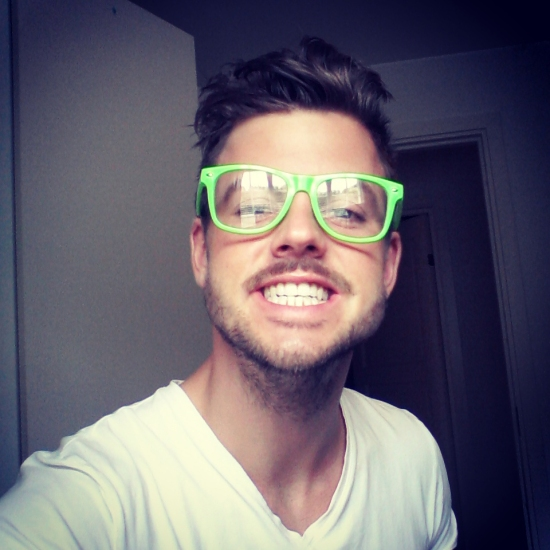 Christian Burmeister med grønne briller