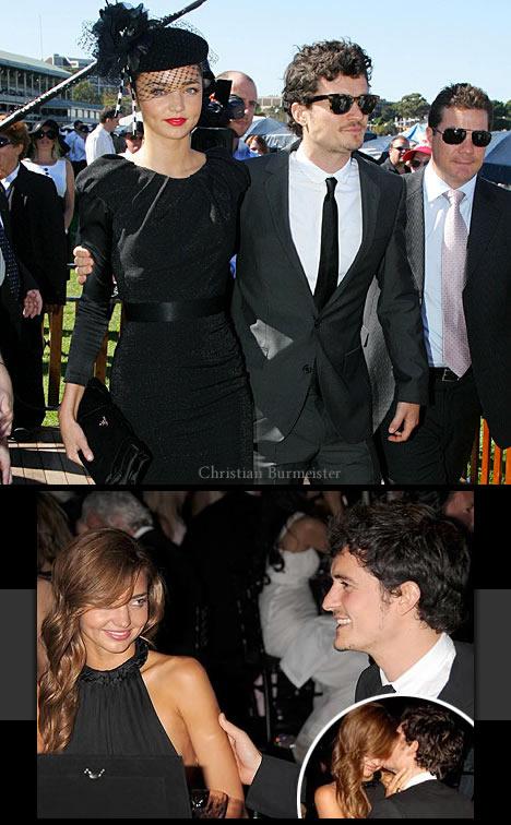 Miranda Kerr og Orlando Bloom lykkelige sammen.