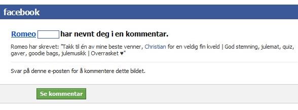 Romeo Facebook
