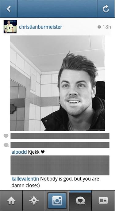 Christian Burmeister Instagram kommentarer