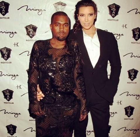 Kanye West og Kim Kardashian 2013