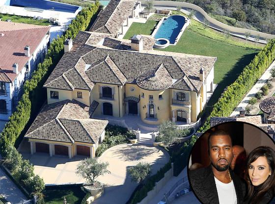 Kim Kardashian og Kanye West sitt hus