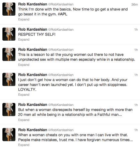 Rob Kardashian om Rita Ora på Twitter