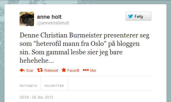 Anne Holt Homo