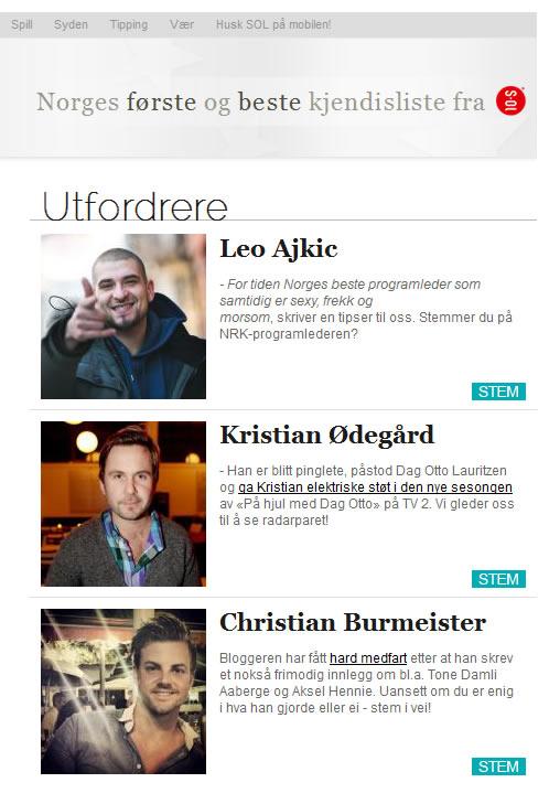 Christian Burmeister - Favorittkjendis