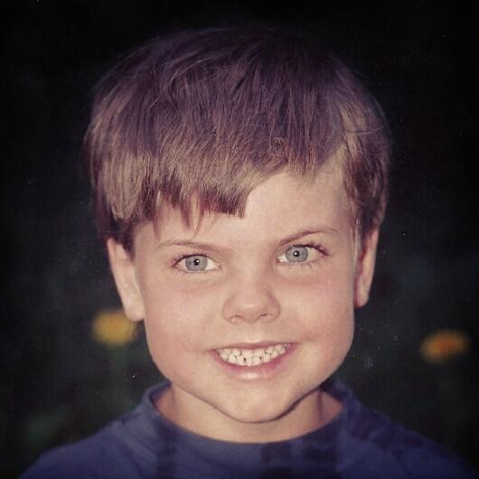 Christian Burmeister som barn