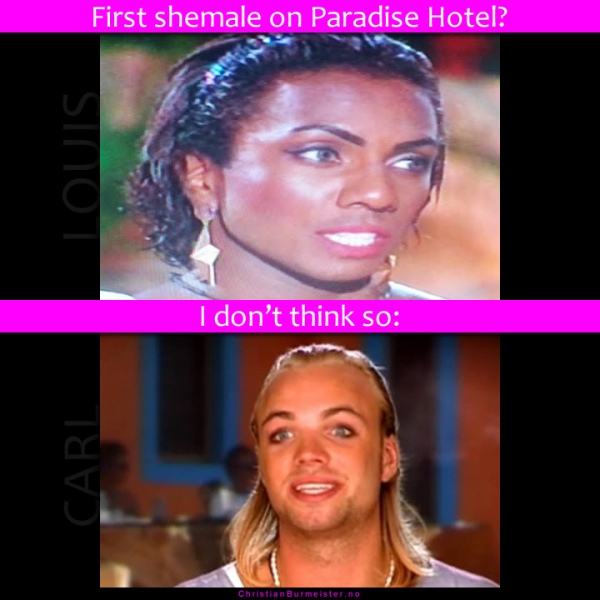 shemale on shemale paradise hotel tine
