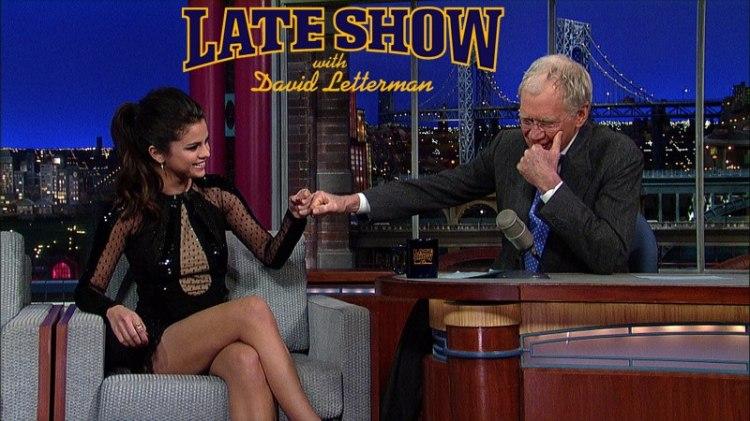 Selena Gomez på David Letterman