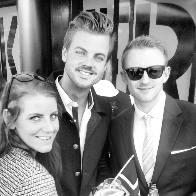 Christiane, Christian og Halvor grå