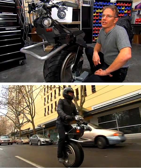 Motorsykkel med ett hjul