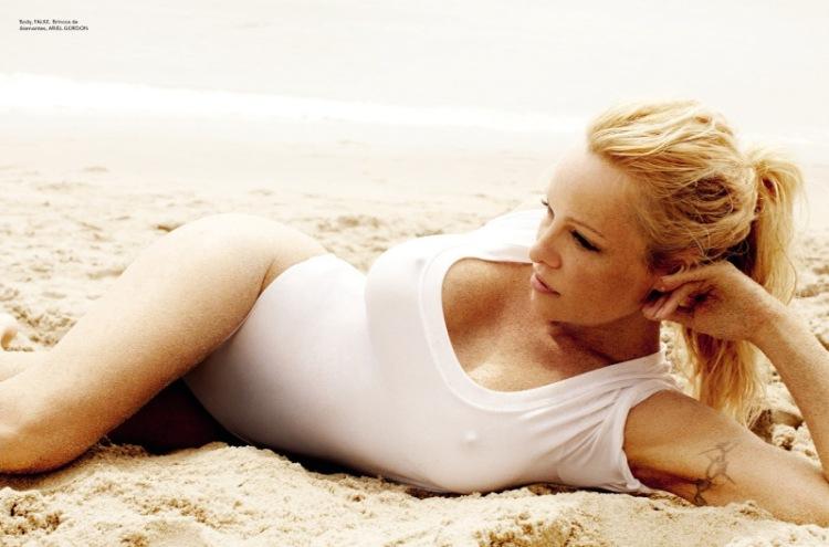 Sexy pamela anderson for vogue brazil