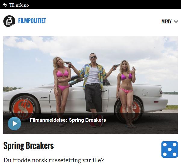 Filmanbefaling 2013 - Spring Breakers