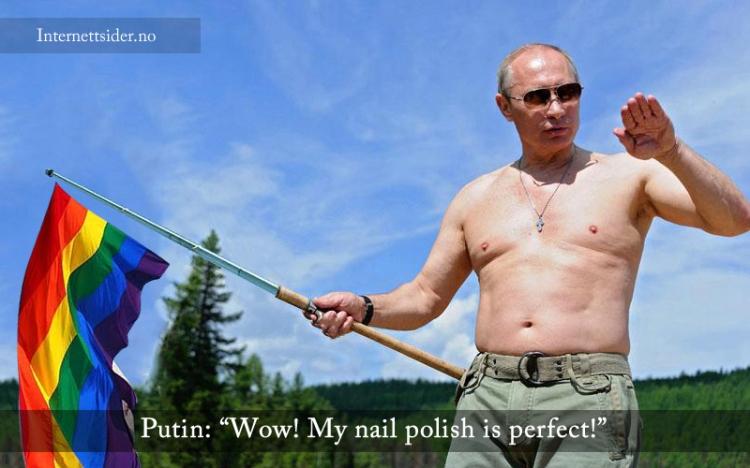 Putin støtter de homofile sine rettigheter i de olympiske leker