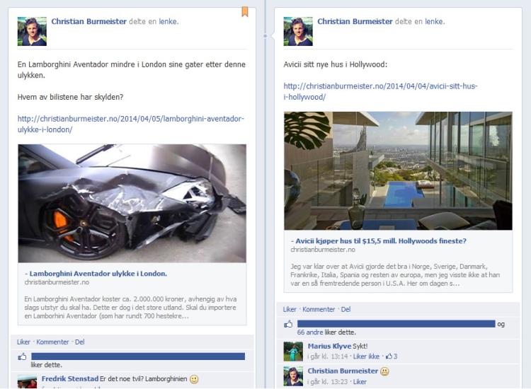 Christian Burmeister på Facebook