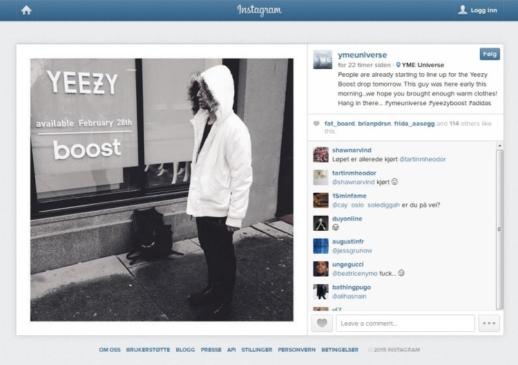 Adidas Yeezy sko i Norge