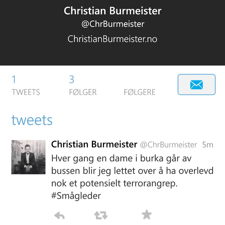 Christian Burmeister Twitter