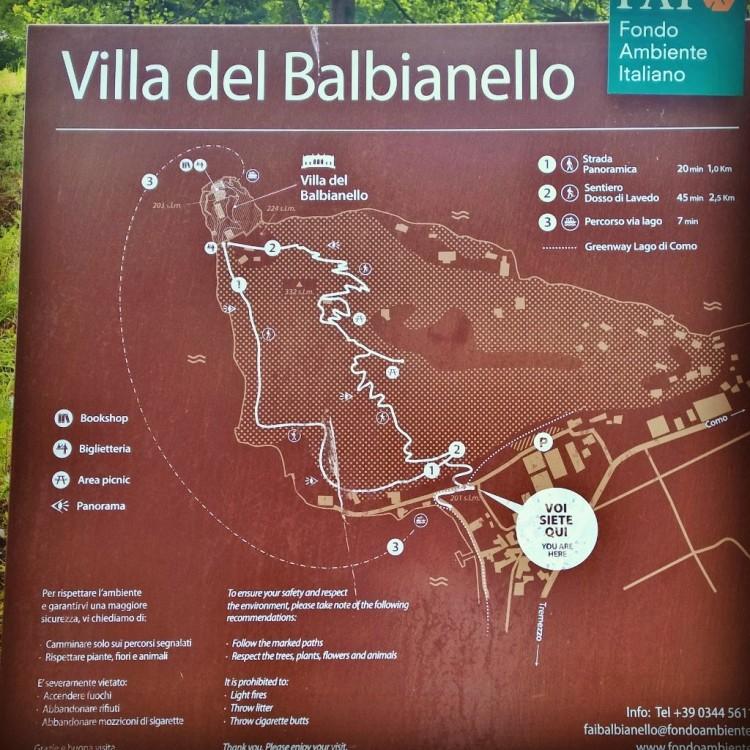 22.05.15 - Kart over Villa del Balbianello