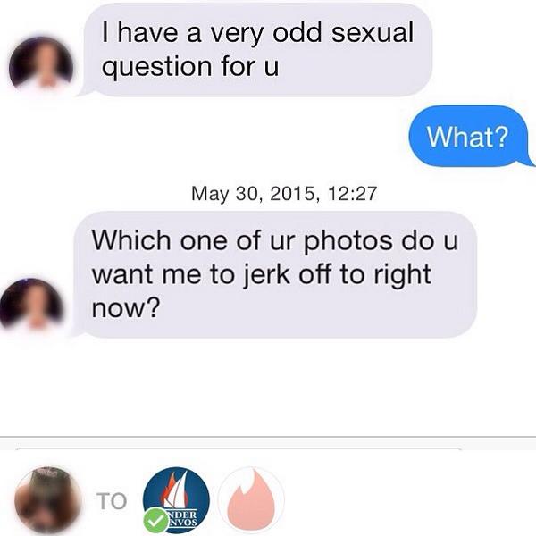 Morsome henvendelser på Tinder